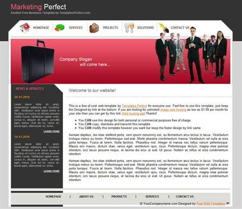 free download website templates for advertising free marketing business web template templates perfect