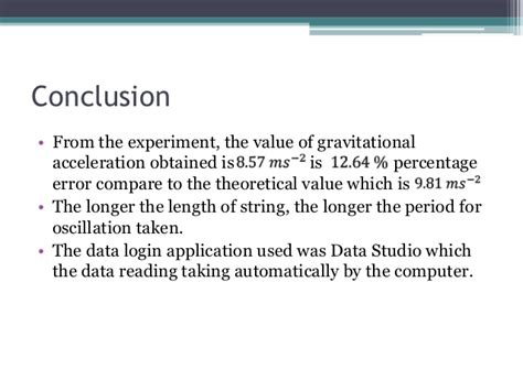 Pendulum Lab Report by Pendulum