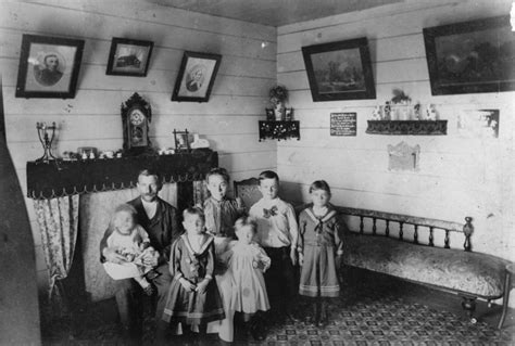 Living Room History File Statelibqld 1 169147 Andersen Family Photographed In