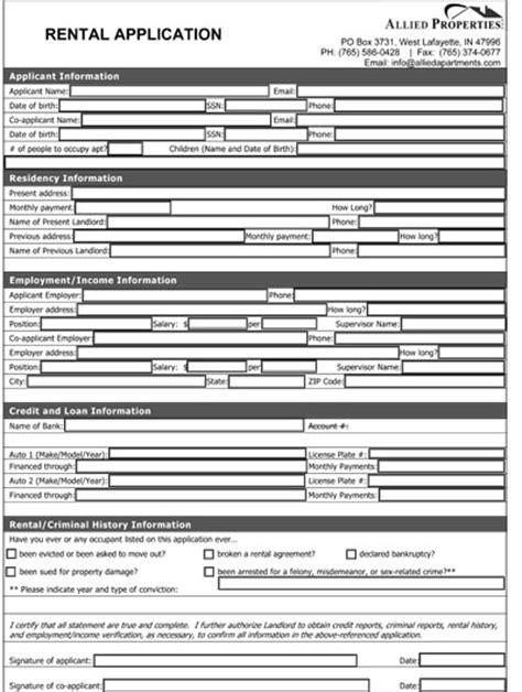 free florida rental application form pdf eforms free