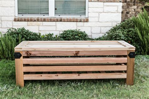 outdoor storage bench diy diy outdoor storage ottoman