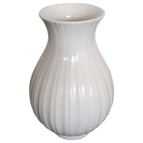 vintage scandinavian modern white fluted vase denmark at