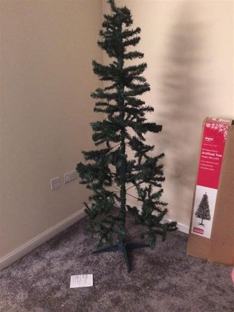 black christmas for argos customers as tree sparks