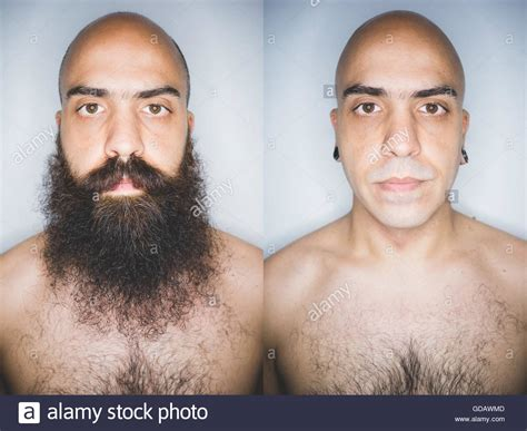 hairy before and shaved photos hairy before and shaved photos portrait of man bearded