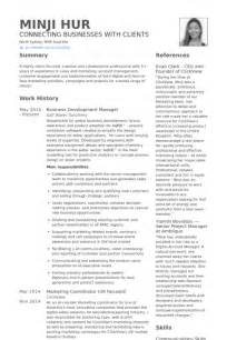 Business Development Resume Samples Visualcv Resume