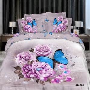 Lace Duvet Cover Set Modern Bedding Luxury 3d Oil Painting Butterfly And Flower