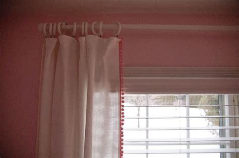 Pom Pom Trim Curtains Diy Pom Pom Trim Curtains