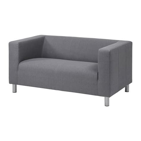 narrow profile sofa klippan compact 2 seat sofa flackarp grey ikea