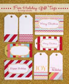 Christmas holiday free printable gift tags by living locurto