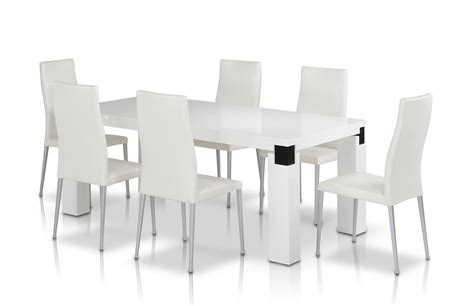 white chairs for dining table modern dining table set rectangular white dining table