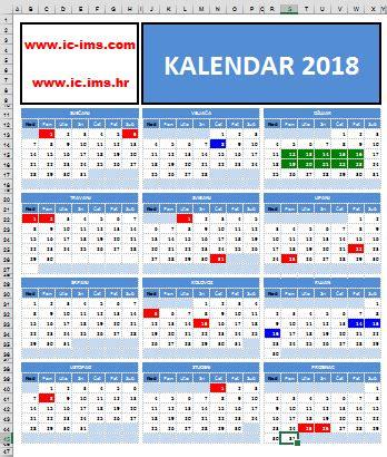 Kalendar 2018 Godine Kalendar 2018