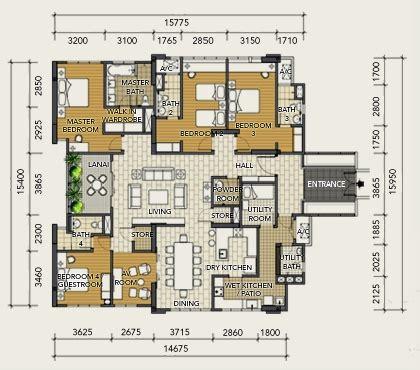 10 mont kiara floor plan tiffani i zen mont kiara condo for rent or sale klc