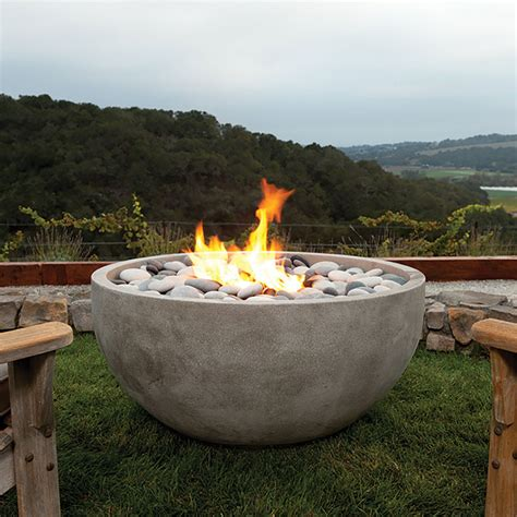 backyard fire bowl eldorado stone outdoor infinite fire bowl
