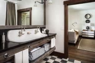 Country Style Bathroom Vanity Country Style Bathroom With Reclaimed Wood Sink Vanity With Trough Sink Country Bathroom