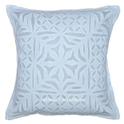 Decorative Pillow Pattern by 16x16 White Cutwork Floral Pattern Decorative Throw
