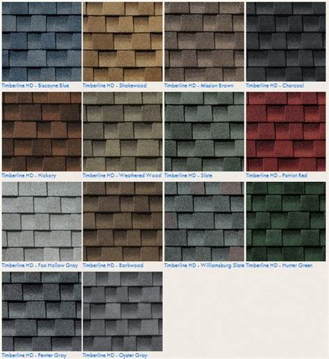 timberline shingles color chart timberline shingles color chart guaranty sheet metal
