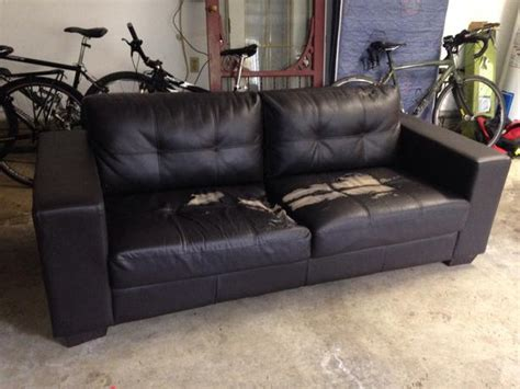 repair pleather couch free beat up ikea style sofa esquimalt view royal victoria