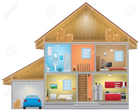 interior clipart inside house pencil and in color