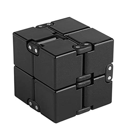 Diskon Infinity Rubic Cube Infinite Fidget Toys the 4 best cube spinner black 2017 top products