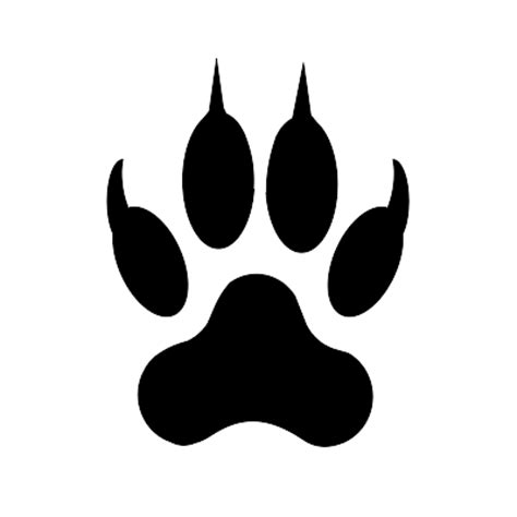Bobcat Paw Print Outline by Bobcat Paw Print Clip Cliparts Co