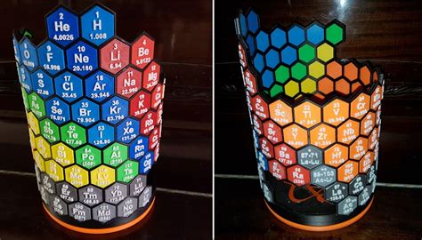 Hexagonal Candle Holder Print 3d Cetak 3d Pla Abs this periodic table is 3d printed htxt africa