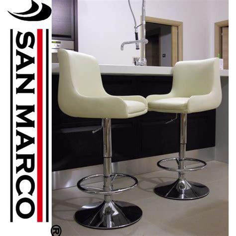 sgabelli bar 2 sgabelli bar easy chair imbottiti color crema san marco
