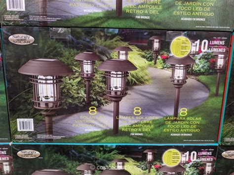 solar pathway lights costco naturally solar solar led pathway lights