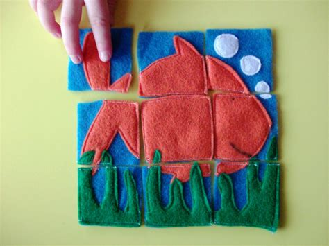 Handmade Gifts From Children - gift idea for felt puzzles mommysavers