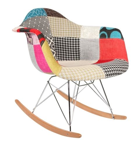 chaise à bascule eames chaise 224 bascule rar patchwork style eames secret design