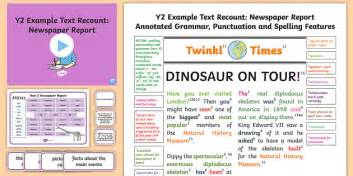 Y2 Recounts Newspaper Report Model Example Text