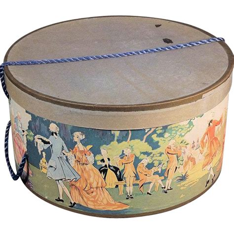 Decorative Hat Boxes by Decorative Vintage Hat Box From Rubylane Sold On