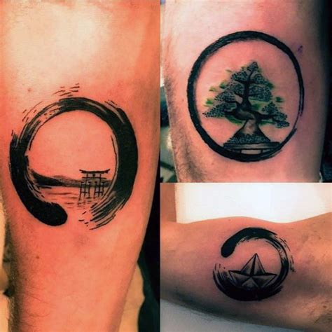 cool small simple mens enso tattoos tattoo ideas pinterest