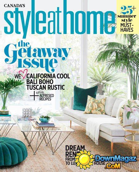 home design magazines canada style at home canada july 2016 187 download pdf magazines