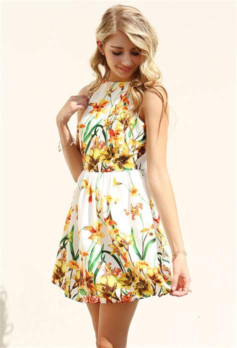 Zieasaiva Flowery Flare Mini Dress floral flare cami mini dress shop dresses at papaya clothing