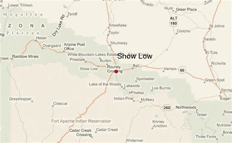 united states map showing arizona show low location guide