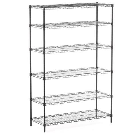 honey can do 6 shelf 72 in h x 48 in w x 18 in d steel