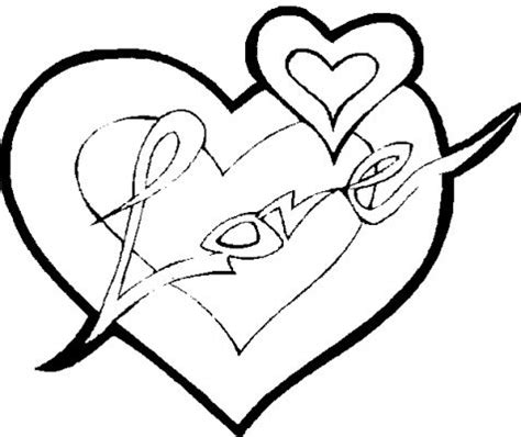 two hearts in love coloring pages