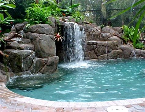 Backyard Grotto by Grotto Area And Color Of Rock Outdoor Living