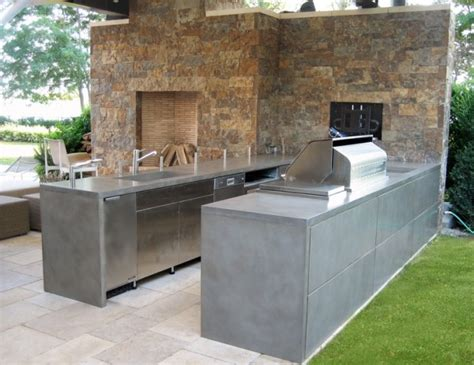outdoor kitchen countertops ideas outdoor stainless steel countertop cost and design ideas