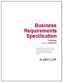 Business Requirements Document Template Business Requirements Specification Template