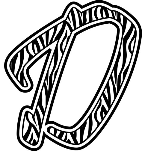5 Letter Words Zebra free coloring pages of zebra letter d