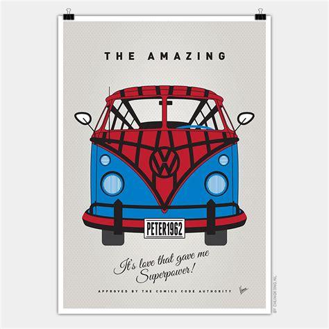 volkswagen van art volkswagen t1 superhero posters fashion vw vans for comic