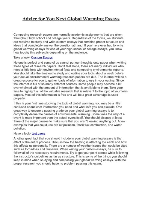 global warming sle essay essay writing on global warming dissertation