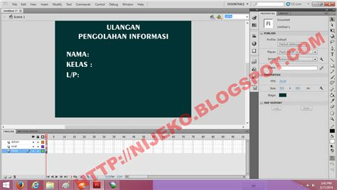 Tutorial Flash Quiz | cara membuat quiz sederhana pada adobe flash cs 5 nijekoblog