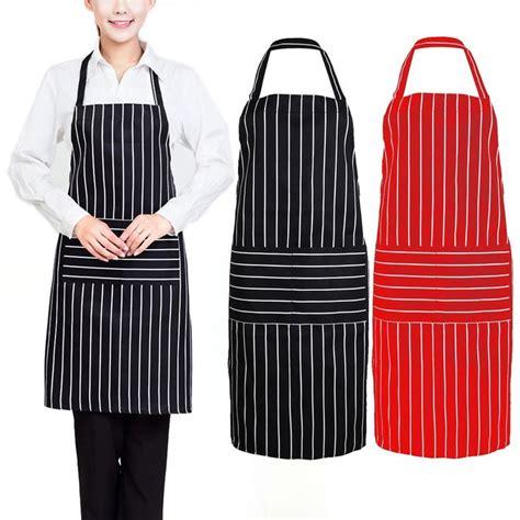 pattern for pvc apron black red creative stripe kitchen apron for women men