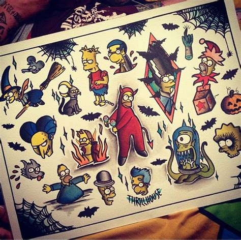 236 best images about tattoo flash on pinterest simpsons