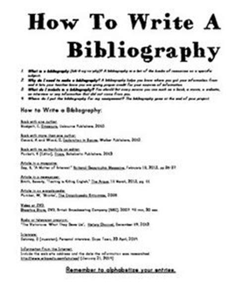 How To Make A Bibliography For A Research Paper - research paper how to write a bibliography