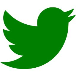 green twitter icon  green social icons