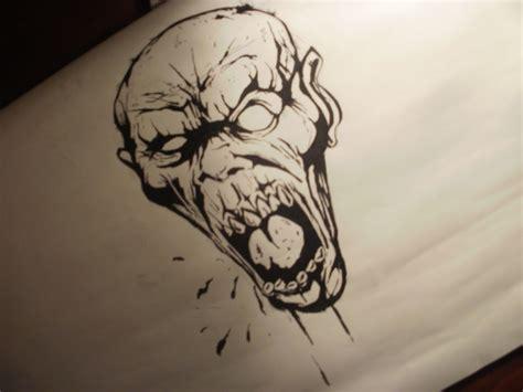 imagenes de dibujos a lapiz de zombies dibujando un zombie taringa