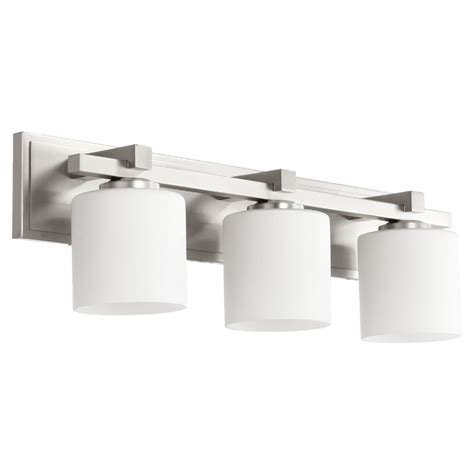 Quorum Bathroom Lighting Quorum Lighting Satin Nickel Bathroom Light 5369 3 65 Destination Lighting